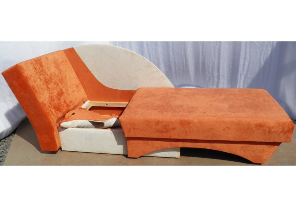 детский диванчик дельфин оранжевый с нишей