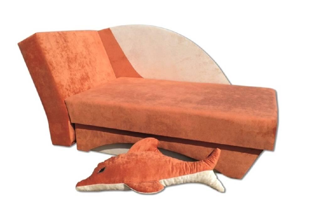 детский диванчик дельфин оранжевый