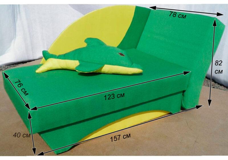 детский диванчик дельфин схема в собранном виде
