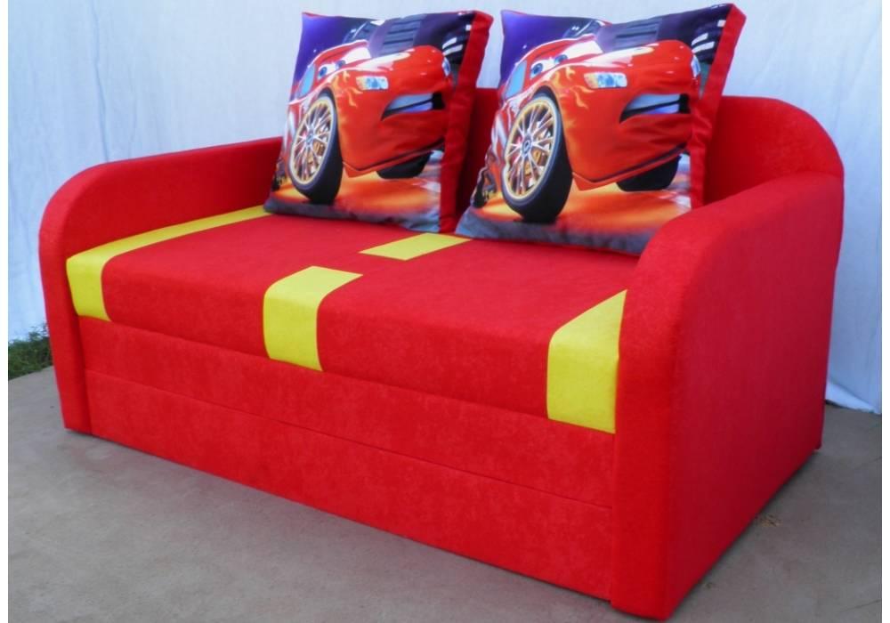 детский раскладной диван етюд тачка красный