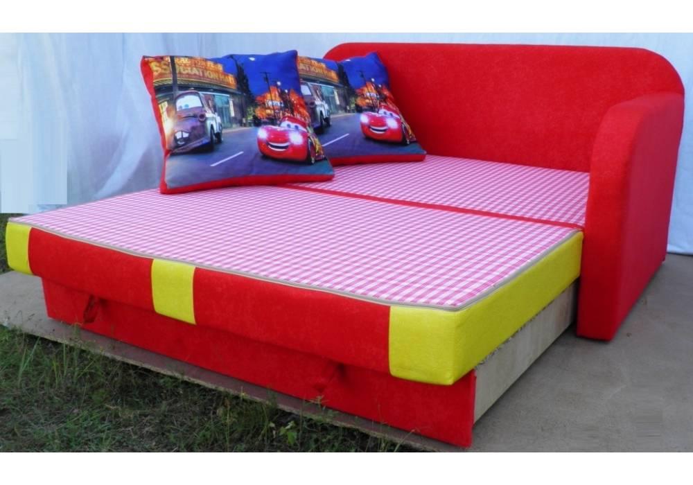 детский раскладной диван етюд тачка разложенный