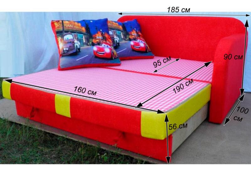 детский раскладной диван етюд тачки схема