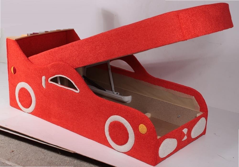 детский диван кровать машина феррари с подъёмным механизмом