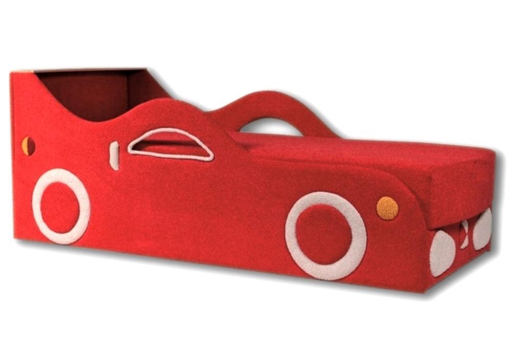 детский диван кровать машина феррари красный