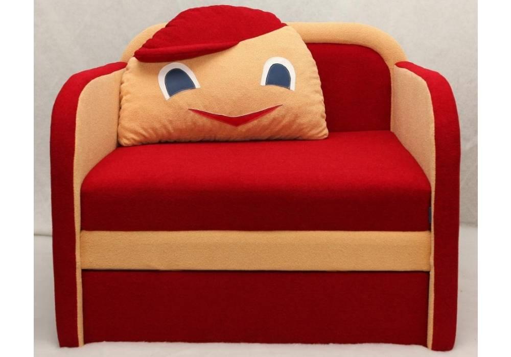 детское кресло кровать капитошка красное