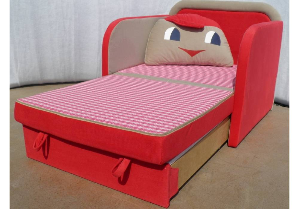 детское кресло кровать капитошка в разложенном виде