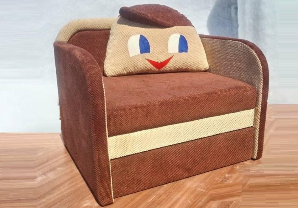 детское кресло кровать капитошка коричневое