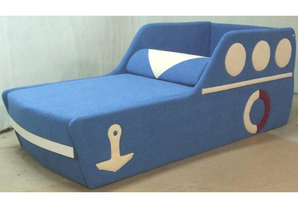 детский диванчик кровать кораблик с подушкой