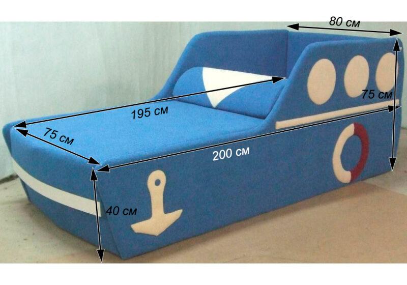 детский диванчик кровать кораблик схема