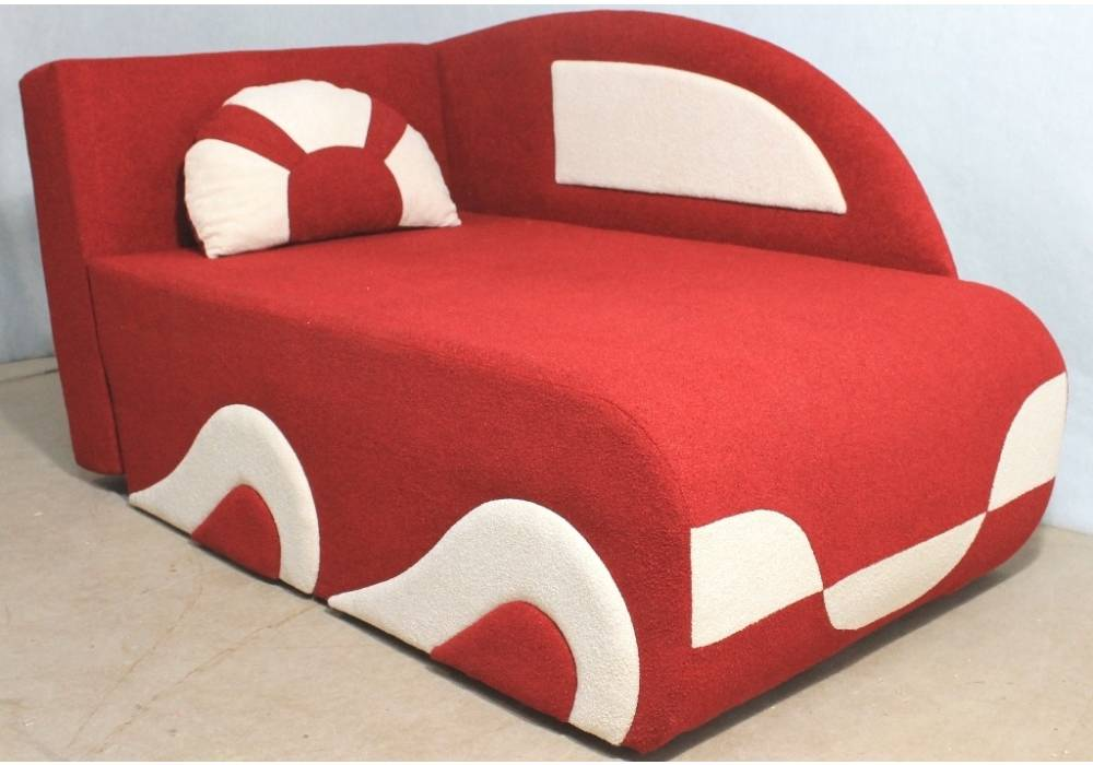детский диванчик кровать малюх красный