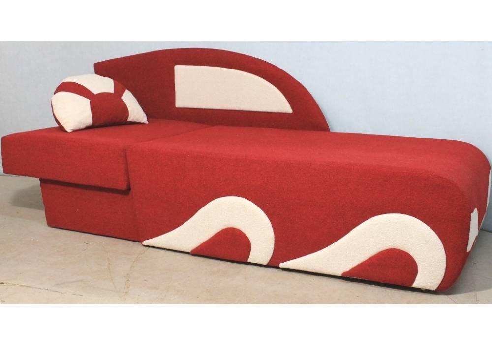 детский раскладной диванчик кровать малюх в разложенном виде красный