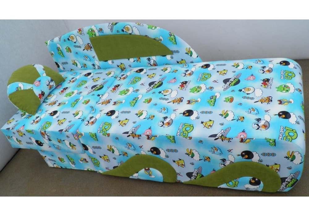 детский раскладной диванчик кровать малюх в разложенном виде