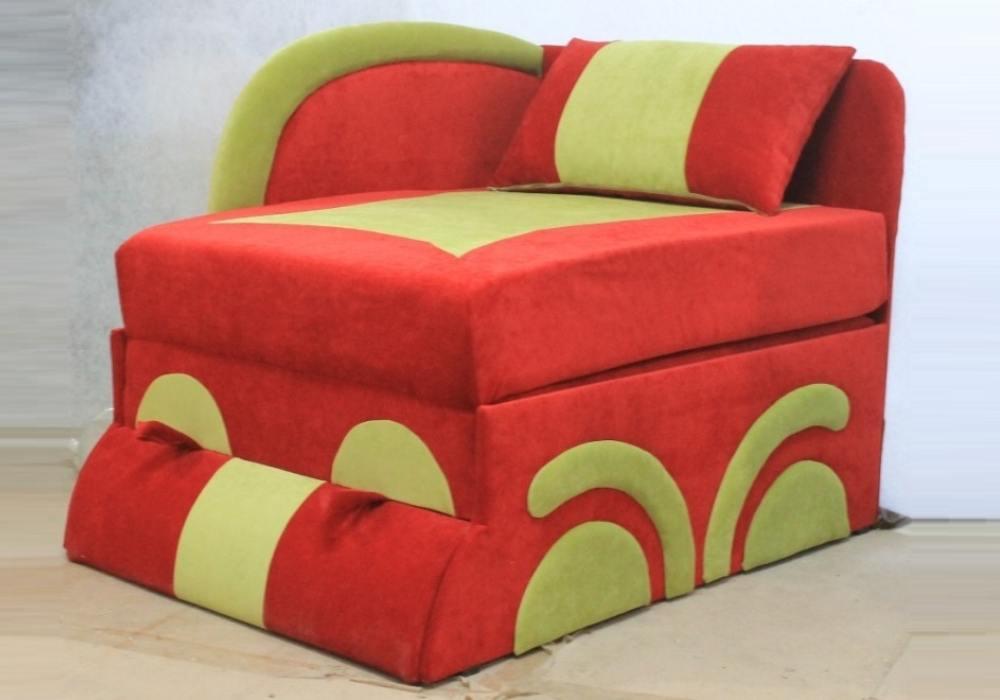 кресло кровать машинка раскладное красное