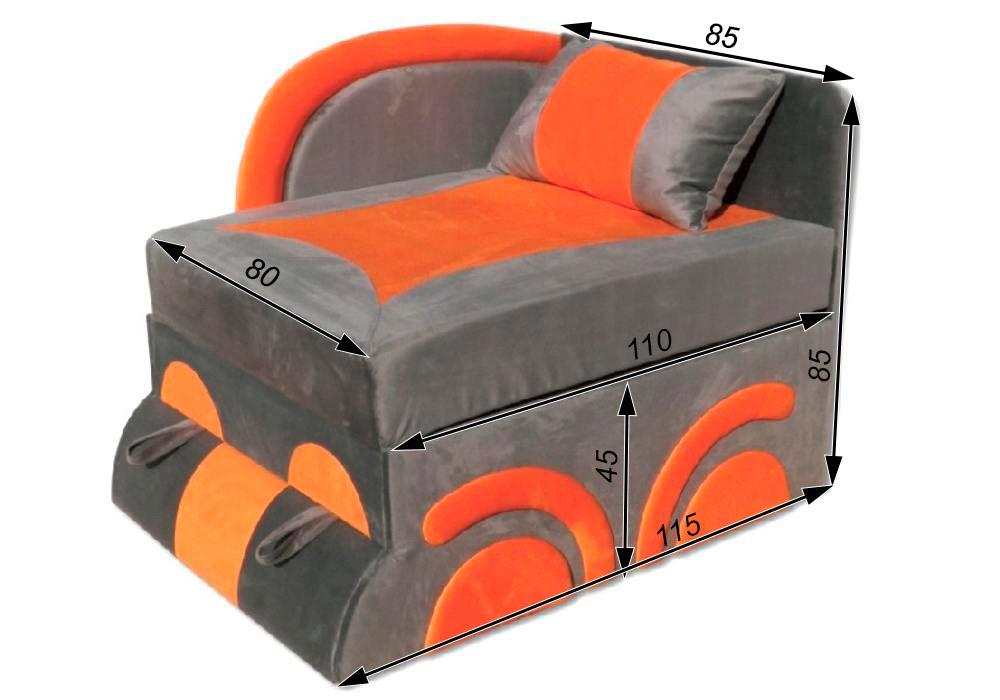 кресло кровать машинка схема