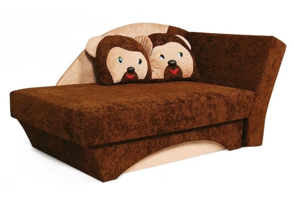 детский диванчик кровать мишка коричневое