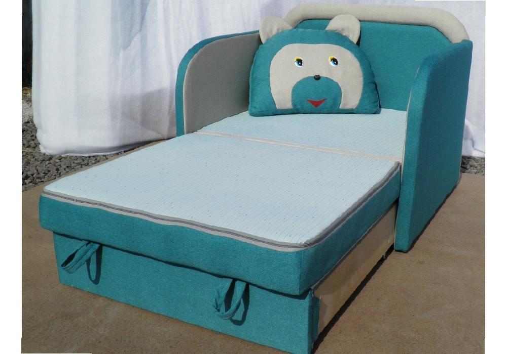 кресло кровать детское мишка в разложенном виде