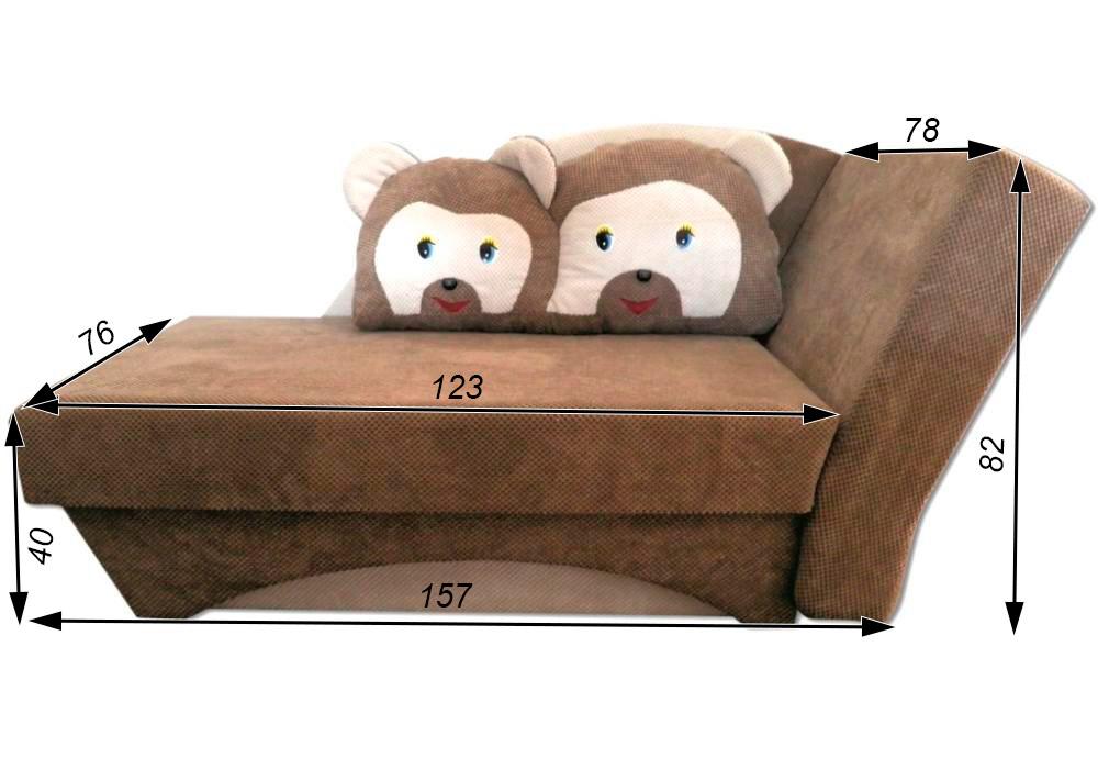 детский диванчик кровать мишка схема