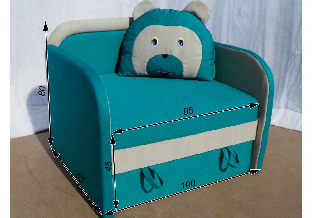 кресло кровать детское мишка схема