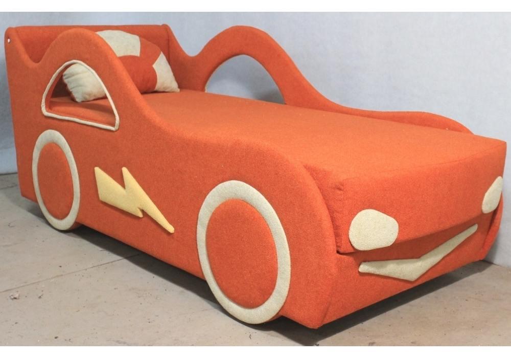 детская кровать диван молния оранжевый