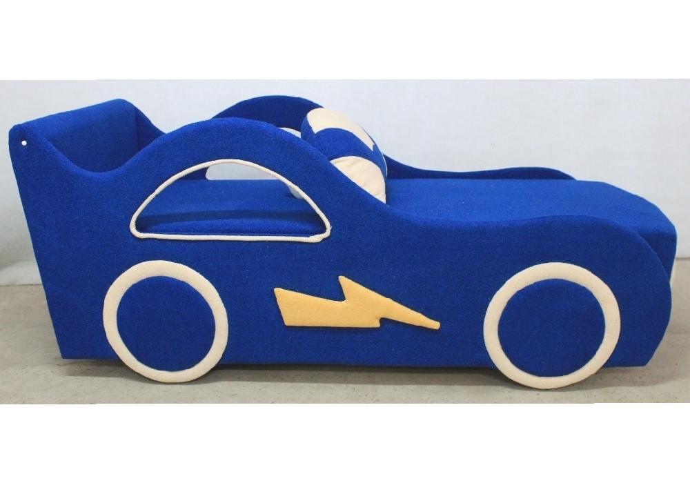 детская кровать диван молния синий
