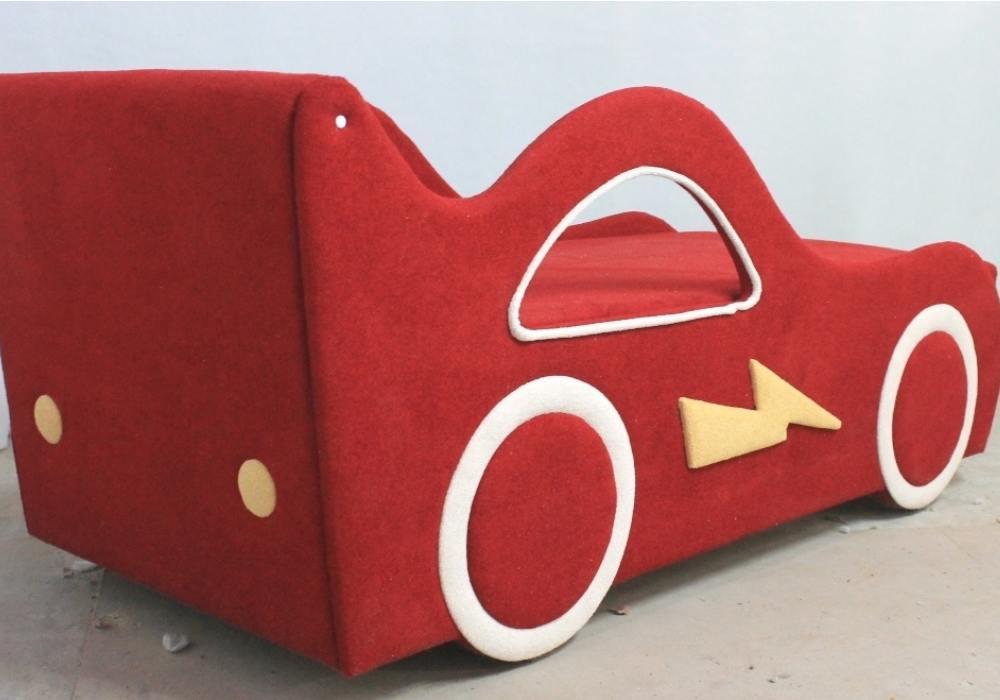 детская кровать диван молния красный