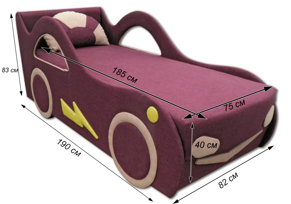 детская кровать диван молния схема