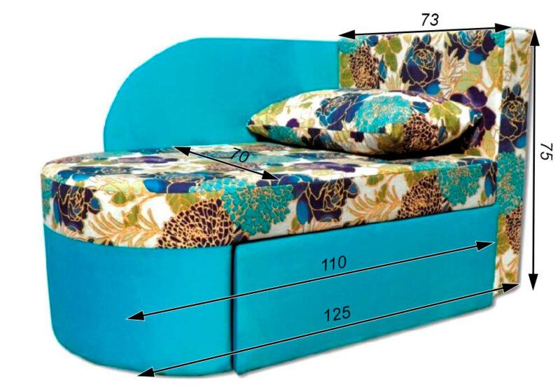 раскладное кресло кровать окей схема