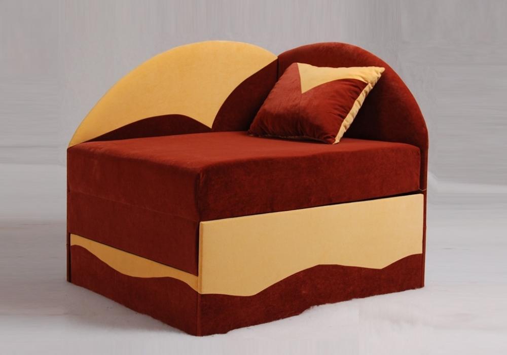 дитяче розкладне ліжко крісло петрусь червоного кольору