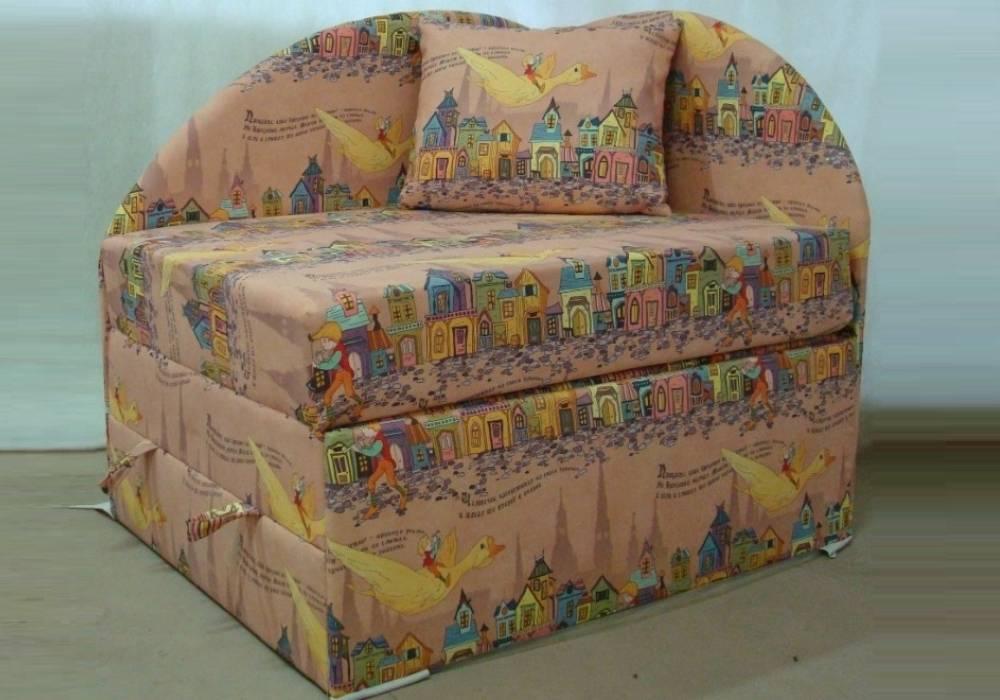 дитяче розкладне ліжко крісло петрусь будиночки