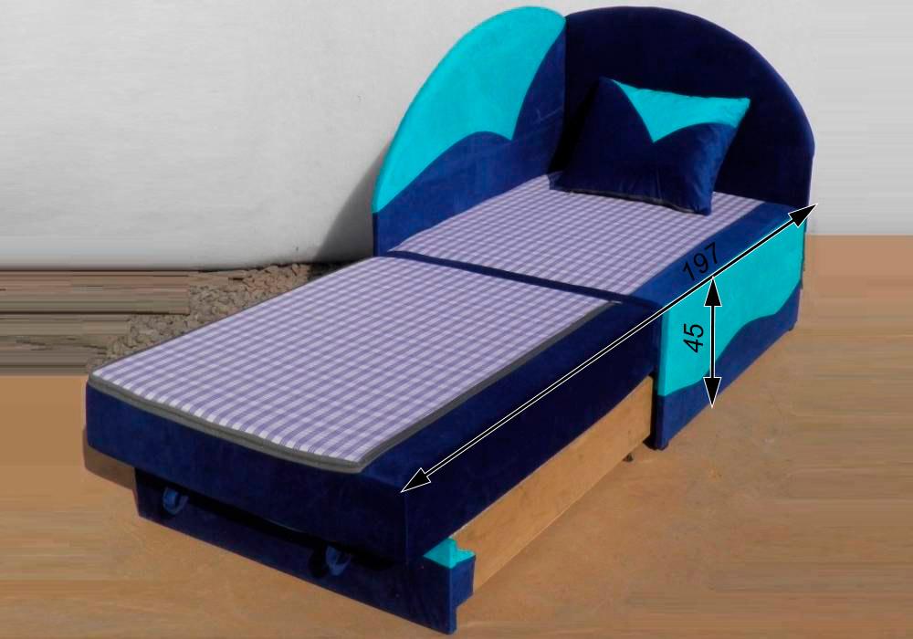 дитяче розкладне крісло ліжко петрусь схема розкладений