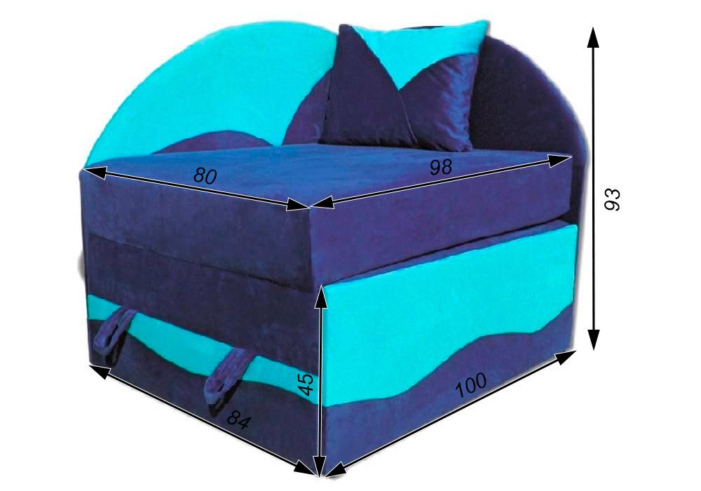 дитяче розкладне крісло ліжко петрусь схема