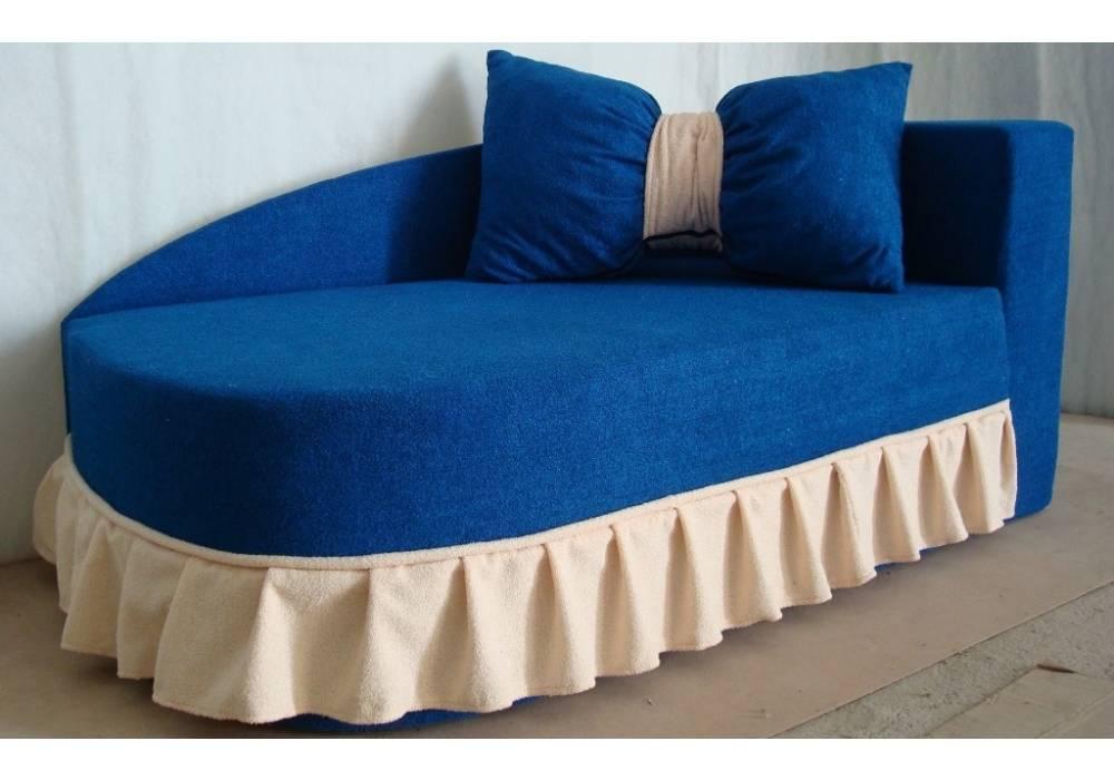 детский диван кровать золушка синий