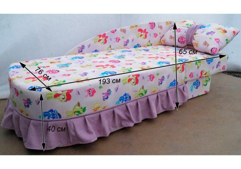 детский диван кровать золушка схема в разложенном виде