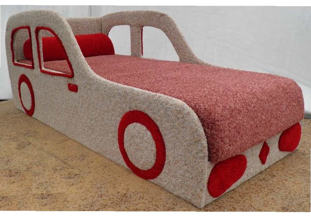 детская кровать машина рено бежевая
