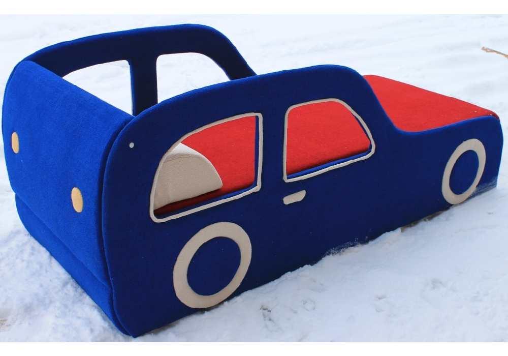 детская кровать машина рено синяя