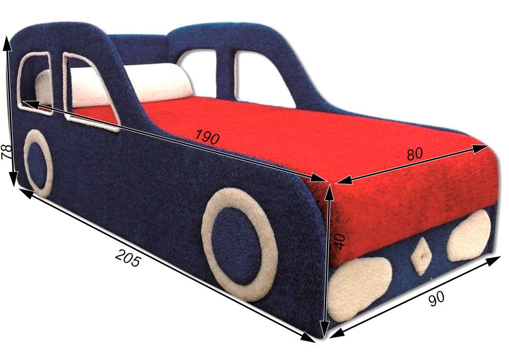 детская кровать машина рено схема