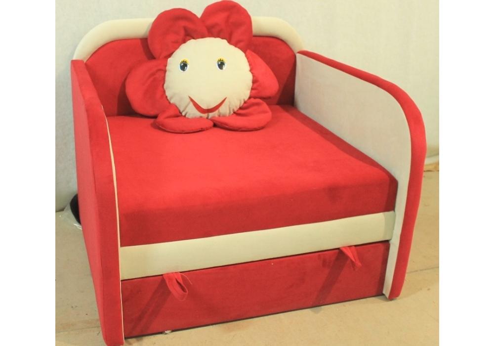 детское кресло кровать ромашка розовый