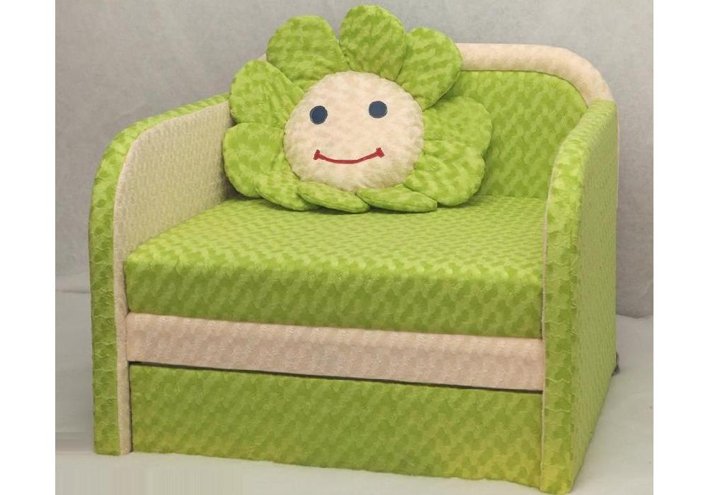 детское кресло кровать ромашка салатовый
