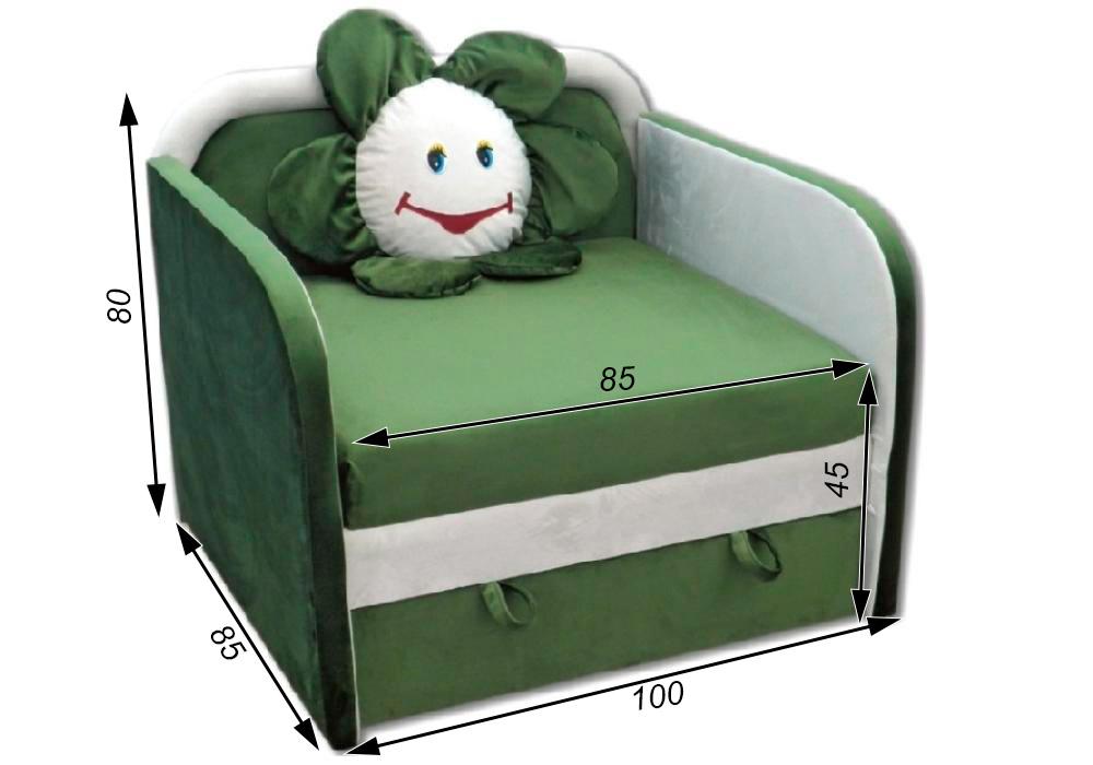 детское кресло кровать ромашка схема