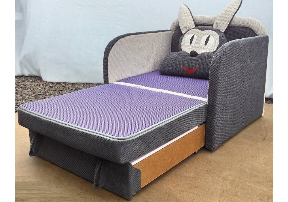 детское кресло кровать заяц раскладное