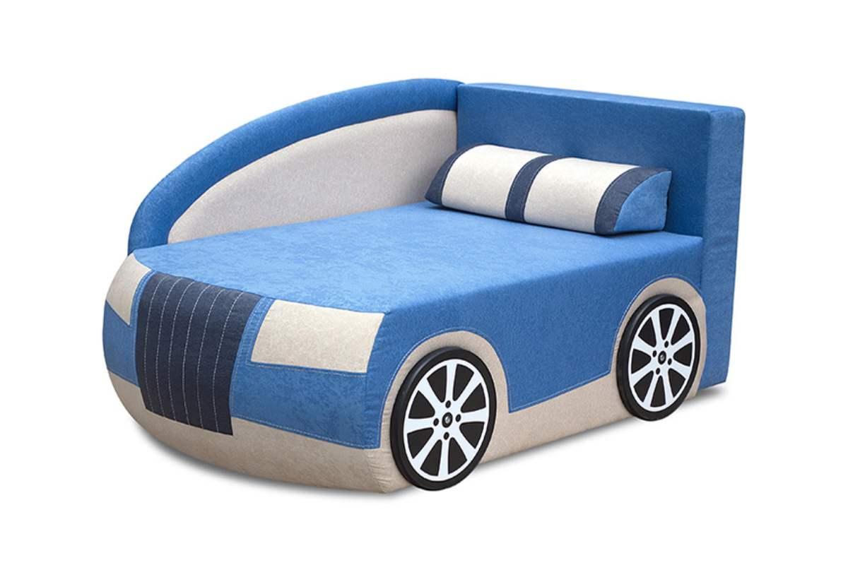 детский кровать диван ауди голубой