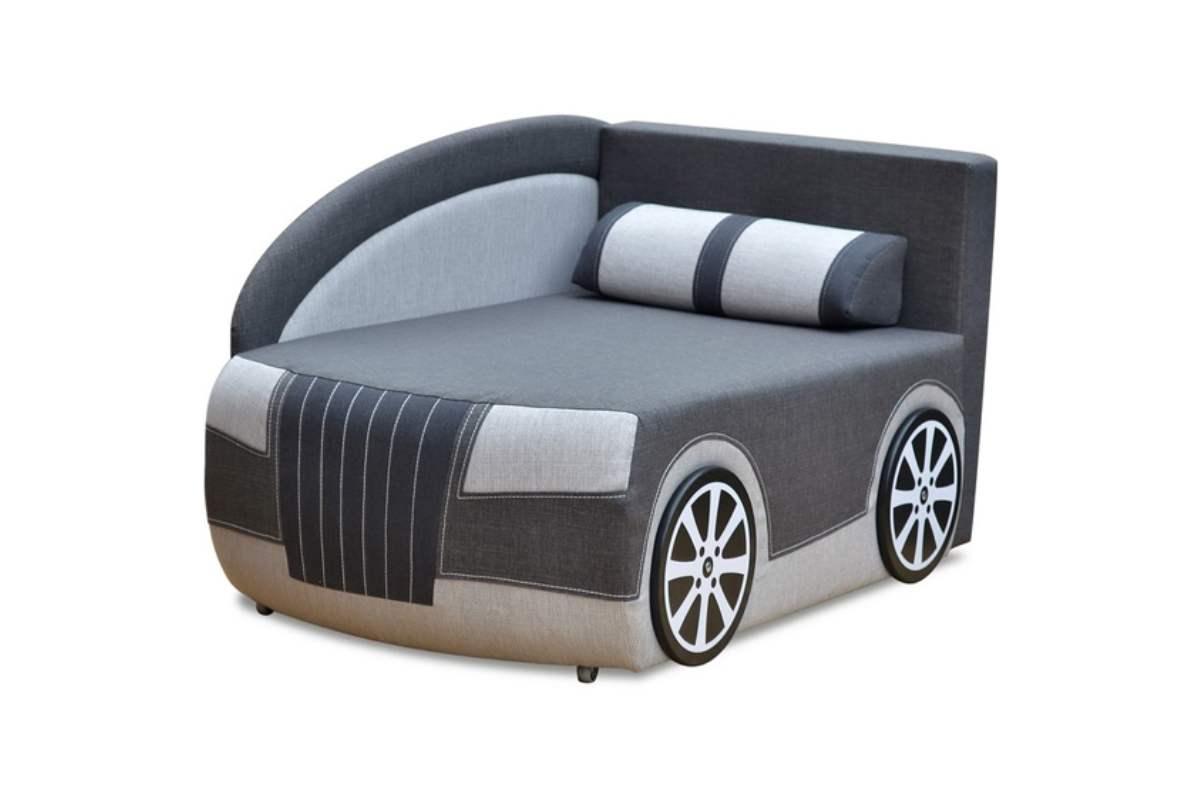 детский кровать диван ауди серый