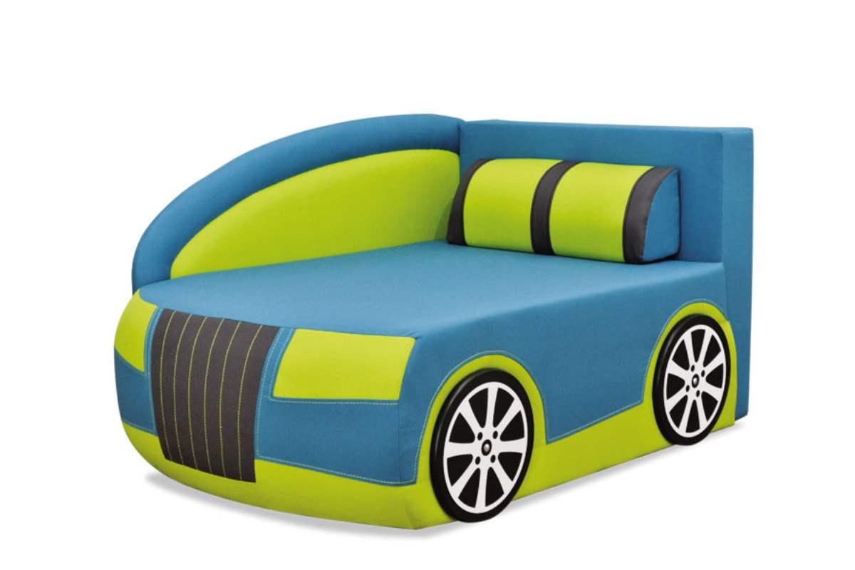 детский кровать диван ауди голубой с зеленым