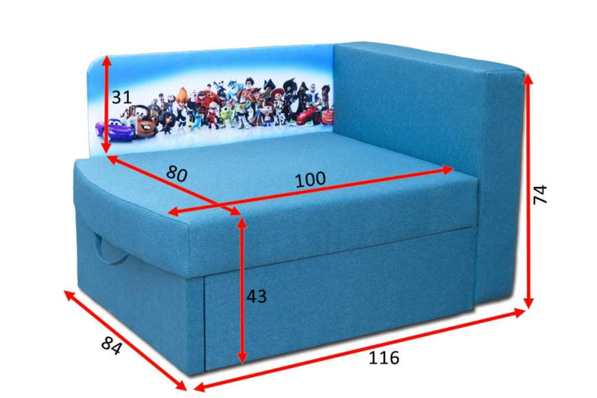кровать диван бемби габариты