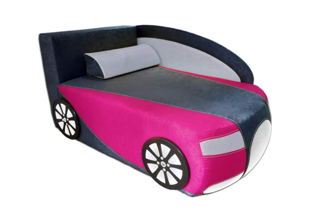 детский кровать диван бугатти серый