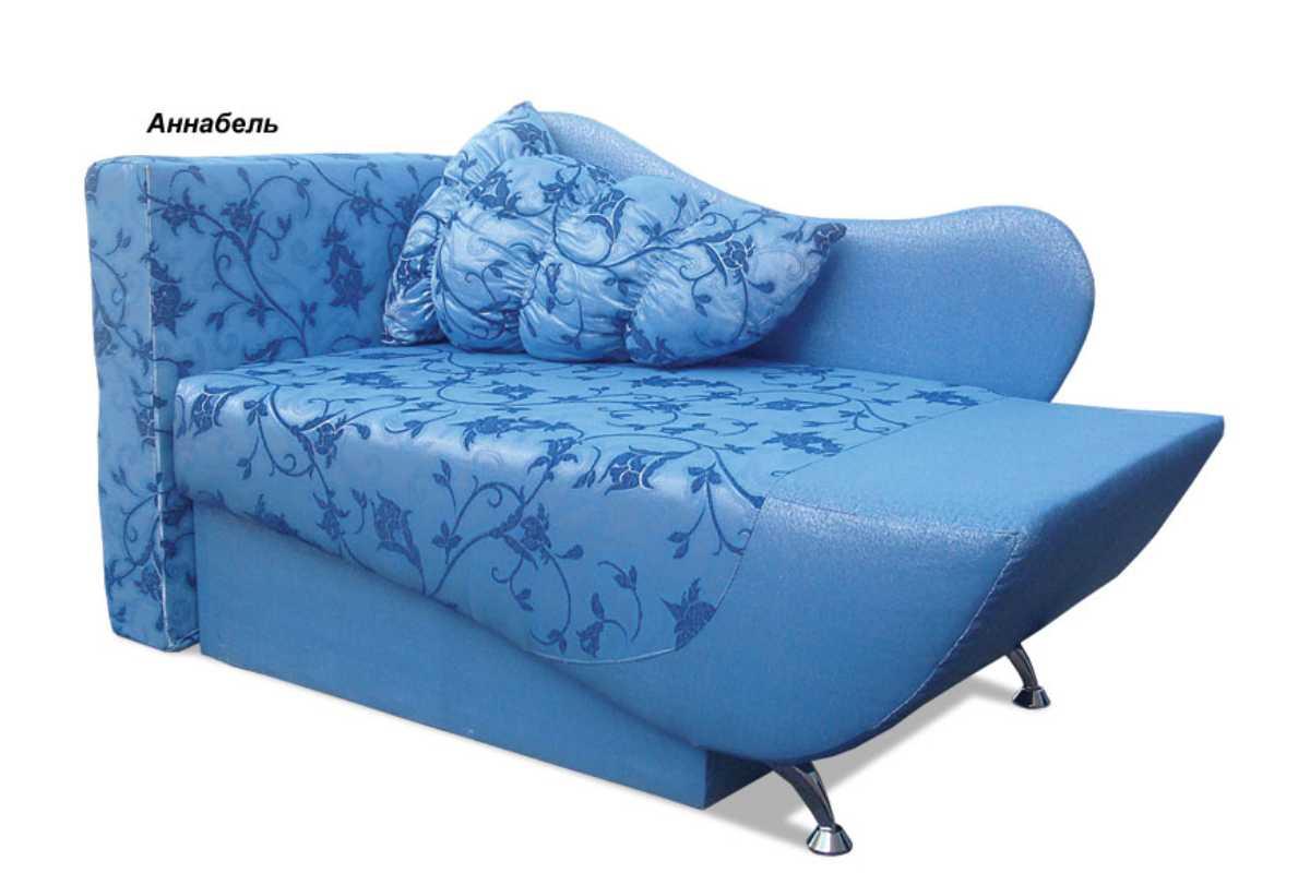 детское кресло кровать эльф голубой