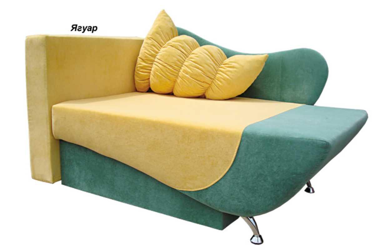 детское кресло кровать эльф желтый с синим