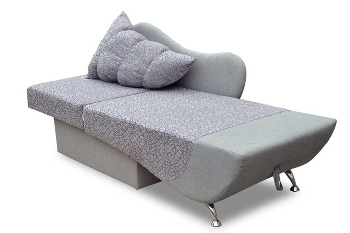 детское кресло кровать эльф серый