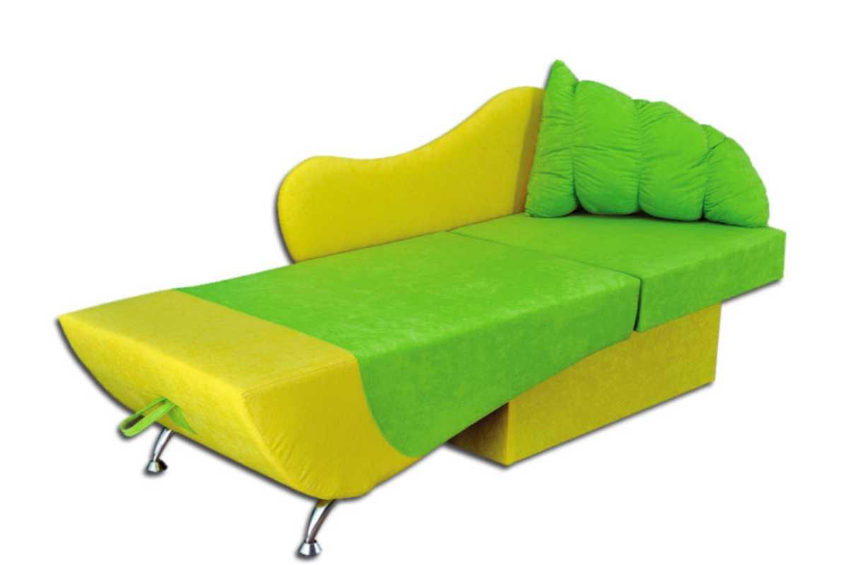 детское кресло кровать эльф желтый