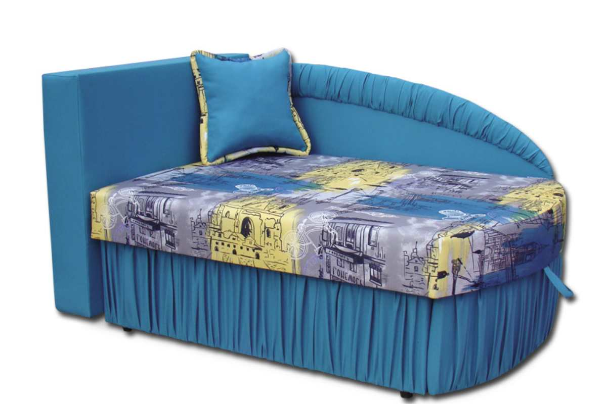 детское кресло кровать колибри голубой с принтом